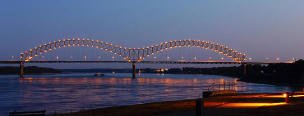 Photograph - Memphis - I-40 Bridge Over The Mississippi 2 by Barry Jones