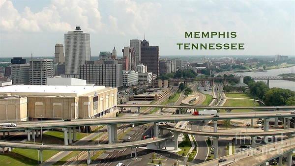 Wall Art - Digital Art - Memphis Skyline View From Pyramid by Karen Francis