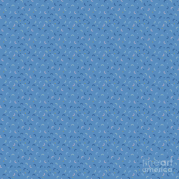 Textura Wall Art - Digital Art - Memphis Style Blue Confetti by Studio Textura