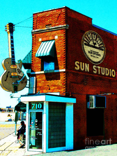 Photograph - Memphis Sun Studio Birthplace Of Rock And Roll 20160215sketch by Wingsdomain Art and Photography