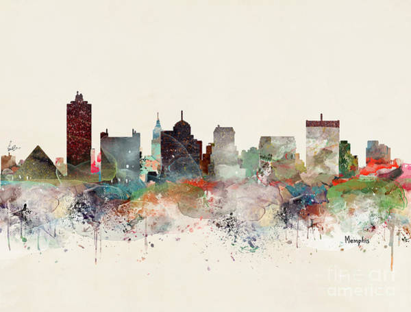 Wall Art - Painting - Memphis Tennessee by Bri Buckley