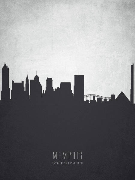 Memphis Painting - Memphis Tennessee Cityscape 19 by Aged Pixel