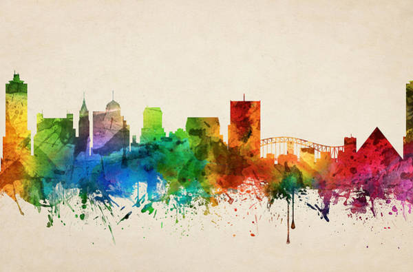Memphis Painting - Memphis Tennessee Skyline 05 by Aged Pixel