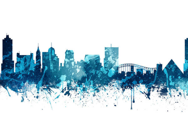Memphis Painting - Memphis Tennessee Skyline 19 by Aged Pixel