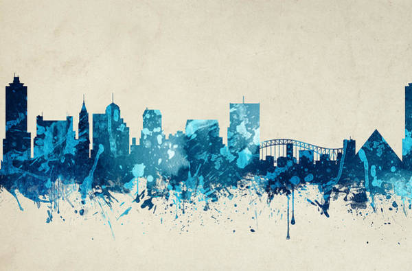 Memphis Painting - Memphis Tennessee Skyline 20 by Aged Pixel