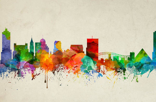 Memphis Painting - Memphis Tennessee Skyline 22 by Aged Pixel