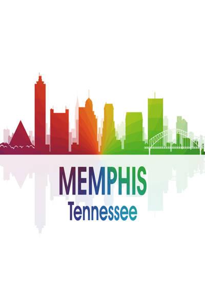 Wall Art - Digital Art - Memphis Tn 1 Vertical by Angelina Tamez
