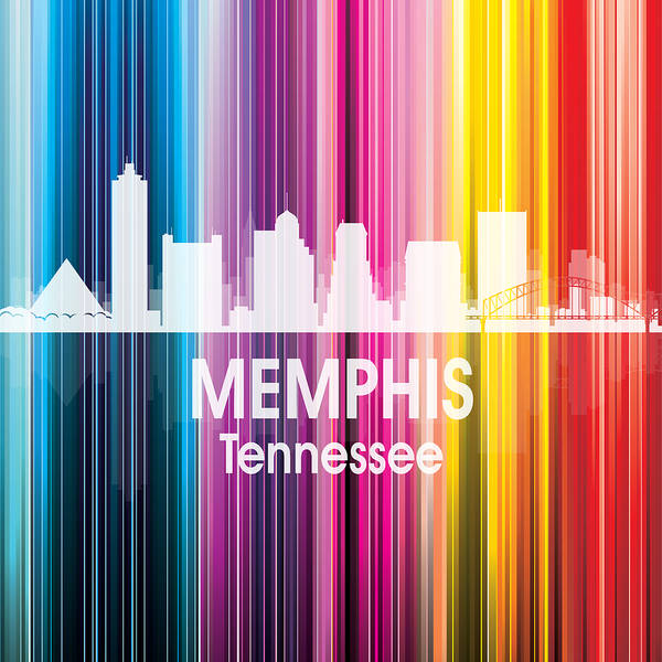 Wall Art - Digital Art - Memphis Tn 2 Squared by Angelina Tamez