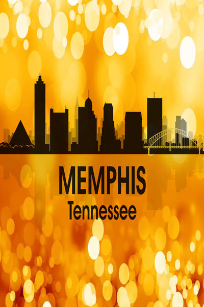 Wall Art - Digital Art - Memphis Tn 3 Vertical by Angelina Tamez