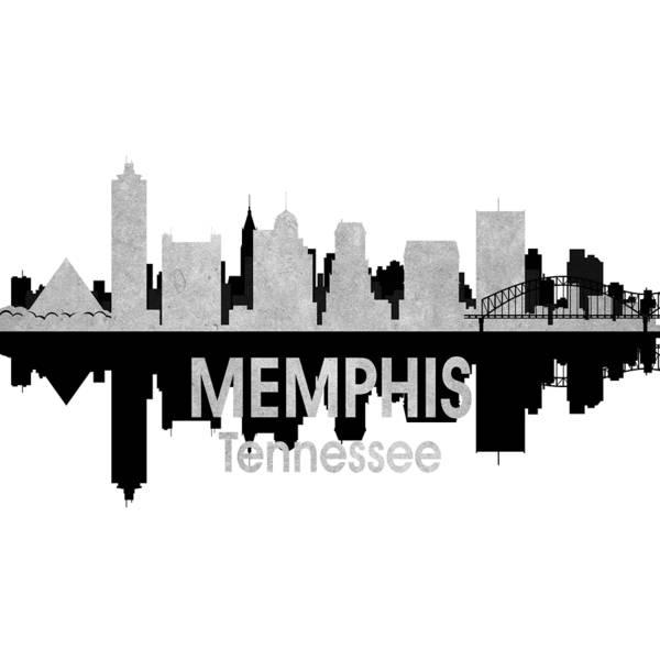Wall Art - Digital Art - Memphis Tn 4 Squared by Angelina Tamez