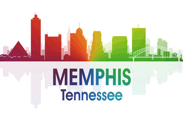 Memphis Design Wall Art - Mixed Media - Memphis Tn by Angelina Tamez