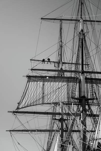 Mast Photograph - Men Aloft by Joseph Smith