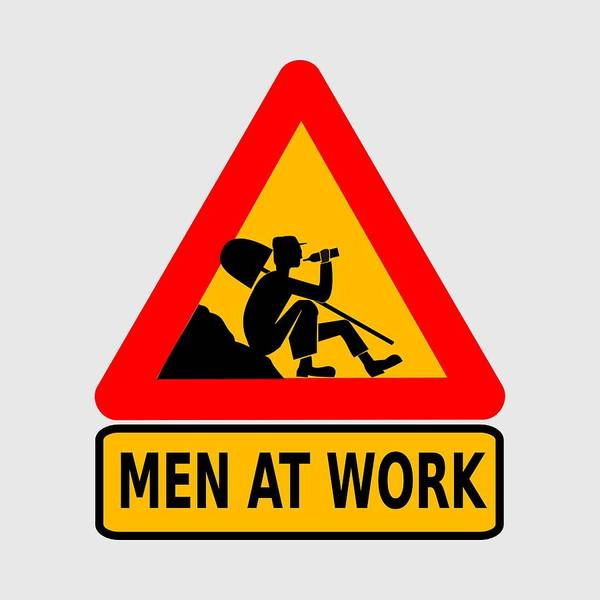 Digital Art - Men At Work With A Drink by Movie Poster Prints