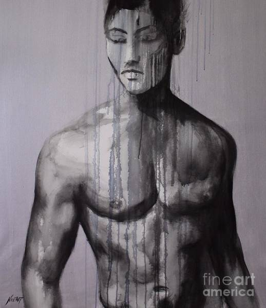 Painting - Men Do Cry by Jindra Noewi