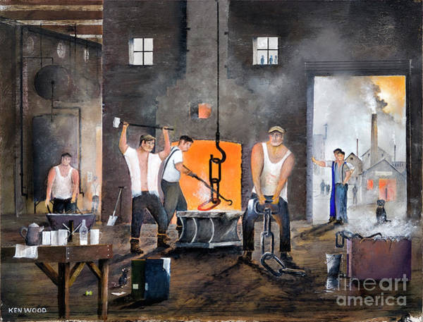 Painting - Men Of The Black Country by Ken Wood