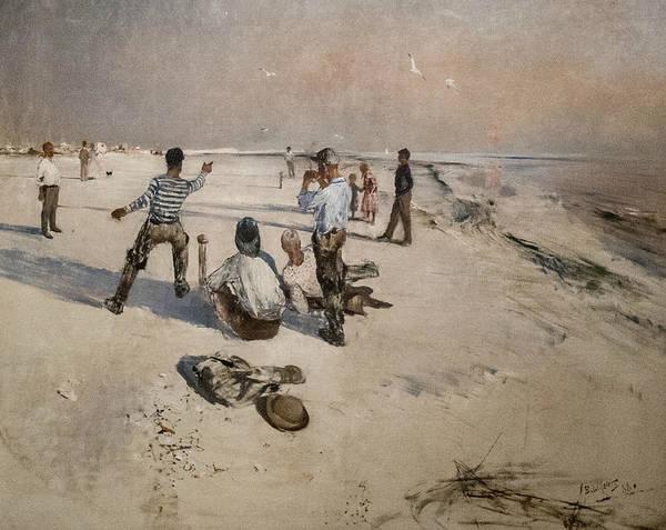 Swedish Painters Wall Art - Painting - Men Warping by Bruno Liljefors
