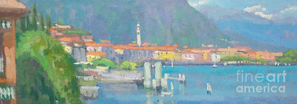 Lake Como Painting - Menaggio  by Jerry Fresia