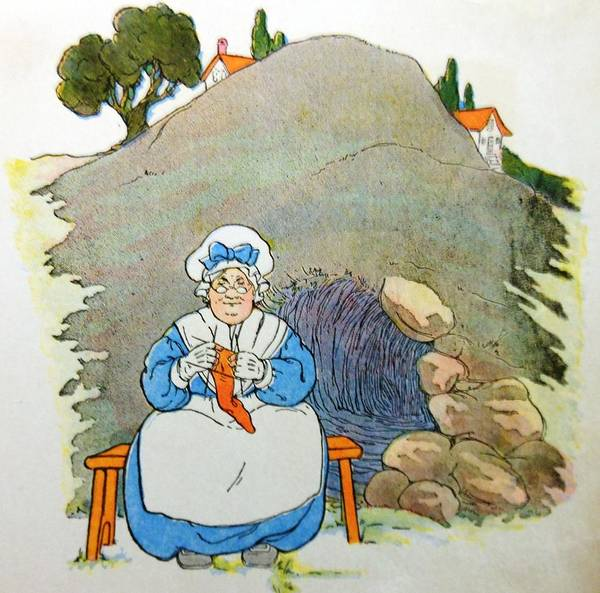 Mother Goose Drawing - Mending A Sock by Lord Frederick Lyle Morris - Disabled Veteran