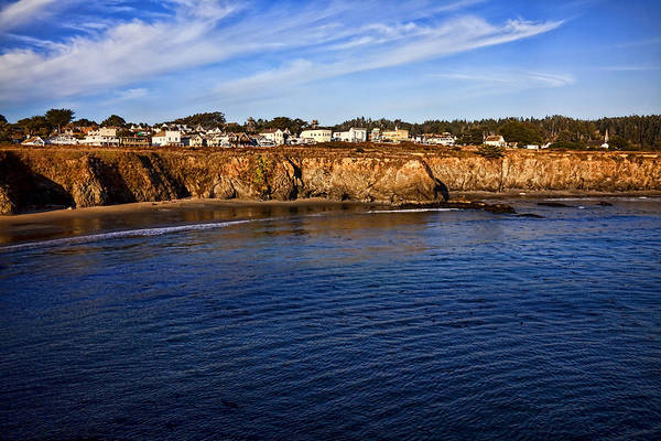 Western Pacific Photograph - Mendocino Coastal Town by Garry Gay