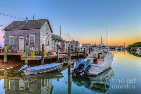 Photograph - Menemsha Basin Morning Twilight I by Clarence Holmes