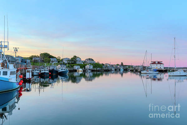 Wall Art - Photograph - Menemsha Basin Morning Twilight V by Clarence Holmes