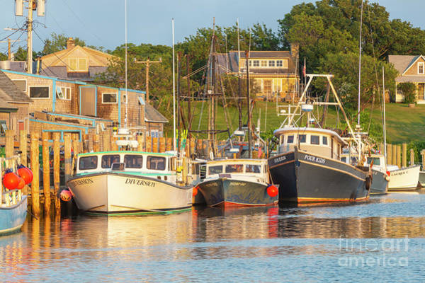 Wall Art - Photograph - Menemsha Fishing Boats Xv by Clarence Holmes