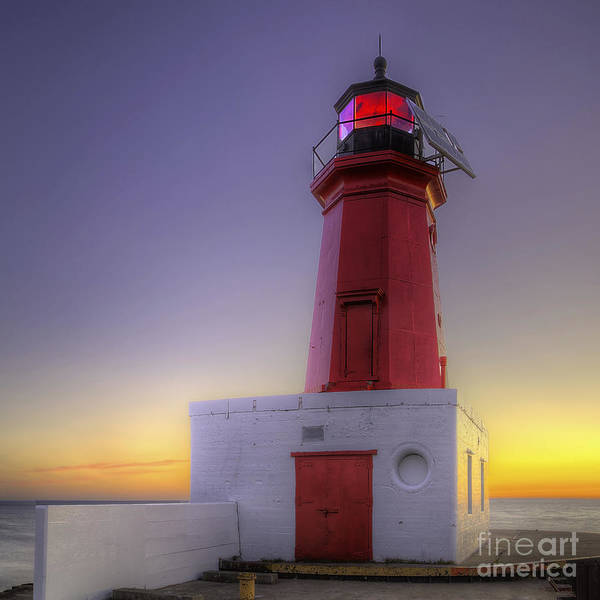 Two Harbors Photograph - Menominee Lighthouse by Twenty Two North Photography