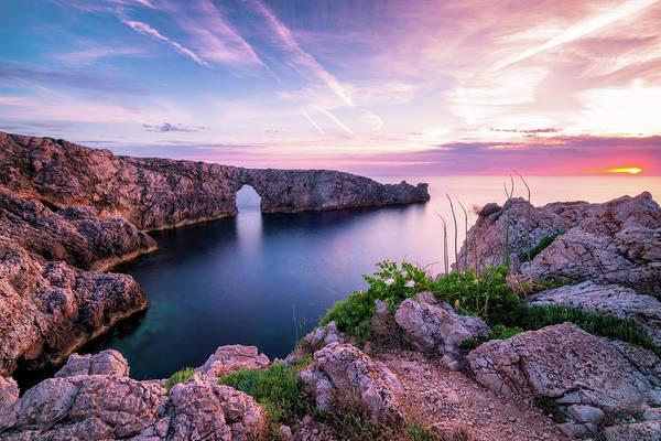 Photograph - Menorca Cliffs - Pont D En Gil Bridge, Spain by Nico Trinkhaus