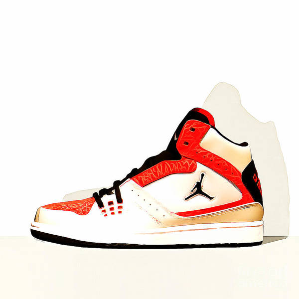 Photograph - Mens Air Jordan High Tops 20160227 Square by Wingsdomain Art and Photography
