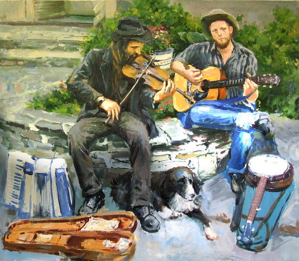 Strum Wall Art - Painting - Mens Best Friend by Conor McGuire