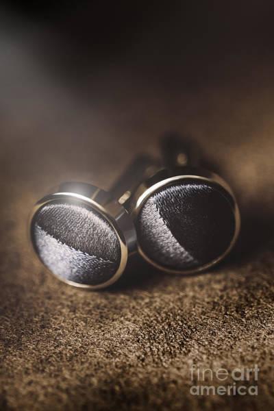 Platinum Photograph - Mens Formalwear Cufflinks by Jorgo Photography - Wall Art Gallery