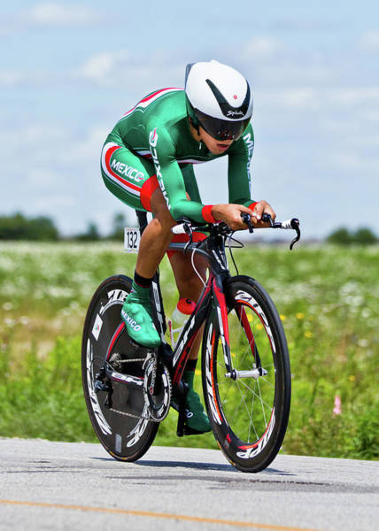 Photograph - Mens Individual Time Trial No 5 by Brian Carson
