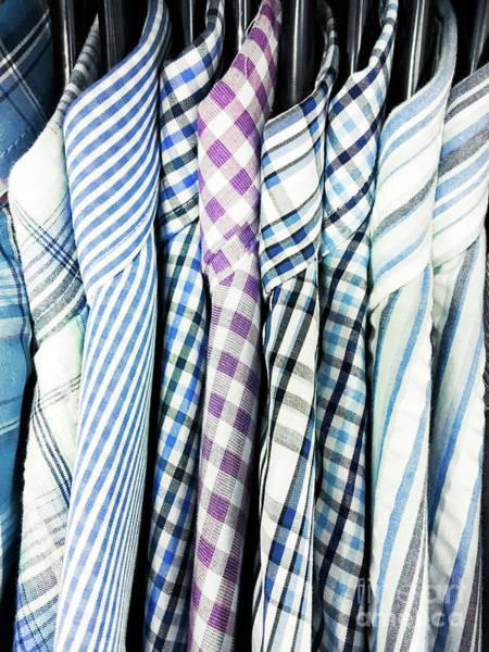 Mens Clothing Wall Art - Photograph - Men's Shirts Hanging by Tom Gowanlock