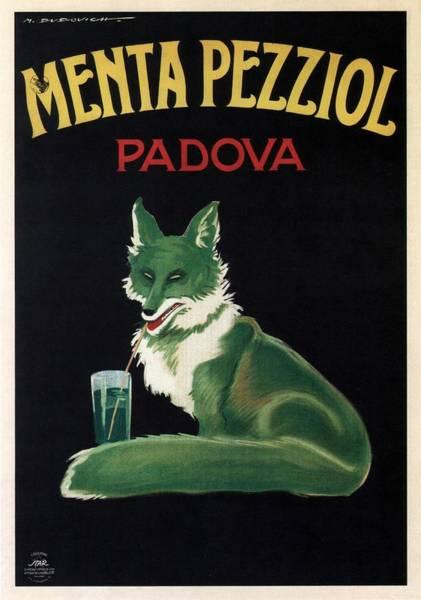 Fox Mixed Media - Menta Pezziol - Padova, Italy - Vintage Advertising Poster by Studio Grafiikka