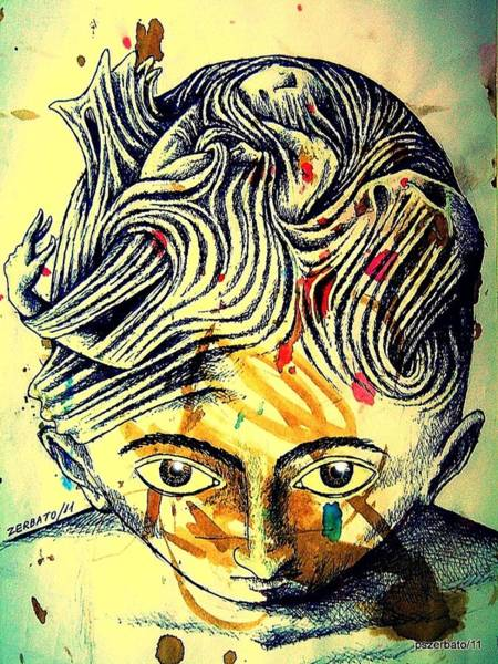 Exhaust Digital Art - Mental Agitation by Paulo Zerbato