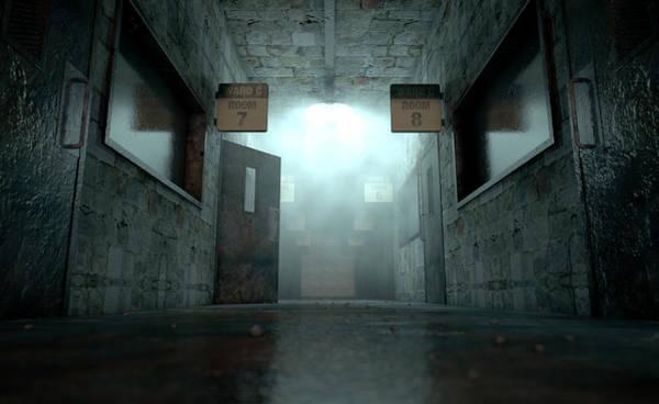 Scary Digital Art - Mental Asylum Haunted by Allan Swart