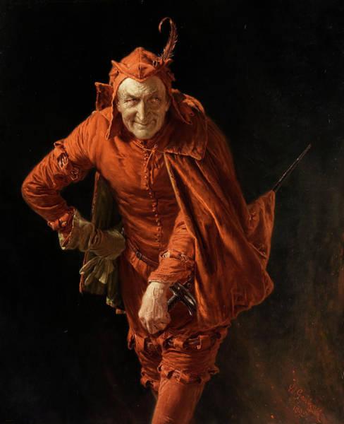 Trial Wall Art - Painting - Mephisto by Eduard von Grutzner
