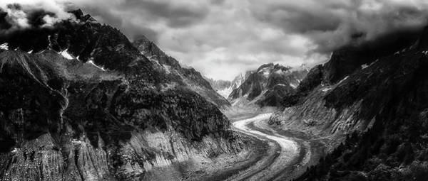Photograph - Mer De Glace - Mono by Chris Boulton