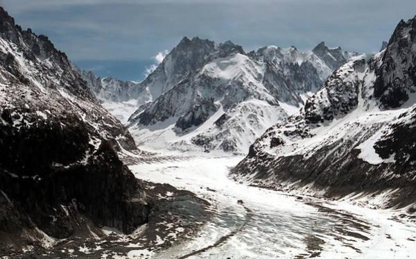 Alpine Photograph - Mer De Glace - Mont Blanc Glacier by Frank Tschakert