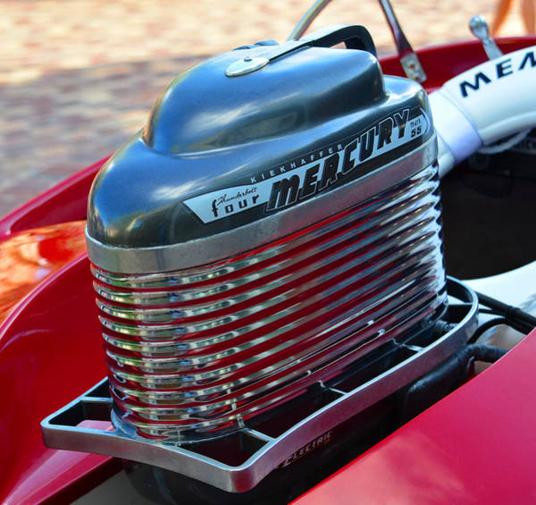 Outboard Engine Photograph - Classic Mercury Outboard by David Lee Thompson