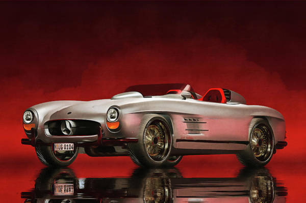 Painting - Mercedes 300sl Daytona Roadster by Jan Keteleer