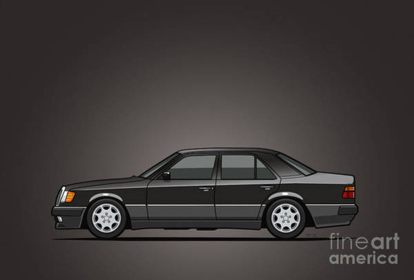 Wall Art - Digital Art - Mercedes Benz 500e W124 Blue-black Metallic by Monkey Crisis On Mars