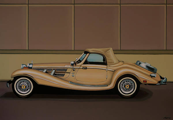 Wall Art - Painting - Mercedes Benz 500k Roadster 1936 Painting by Paul Meijering