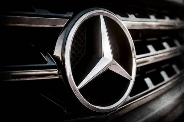 Wall Art - Photograph - Mercedes-benz Emblem -ck0036ac by Jill Reger
