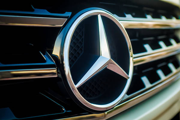 Photograph - Mercedes-benz Emblem -ck0036c by Jill Reger