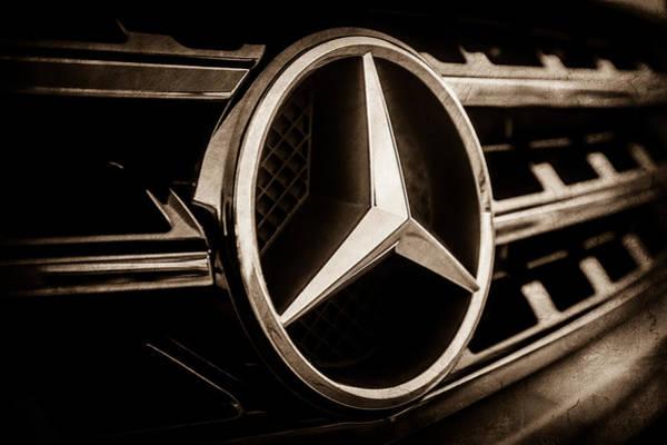 Wall Art - Photograph - Mercedes-benz Emblem -ck0036s by Jill Reger
