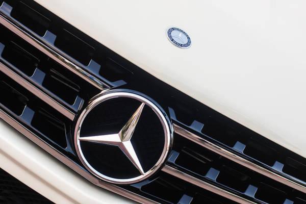 Wall Art - Photograph - Mercedes-benz Emblem - Grille Logo -0030c by Jill Reger
