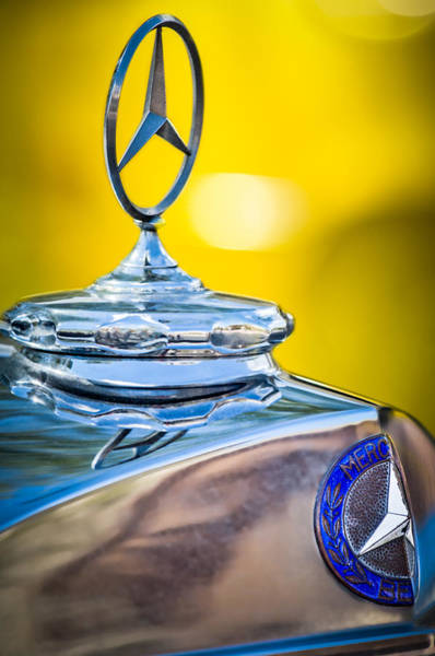 Photograph - Mercedes-benz Hood Ornament - Emblem -0961c by Jill Reger