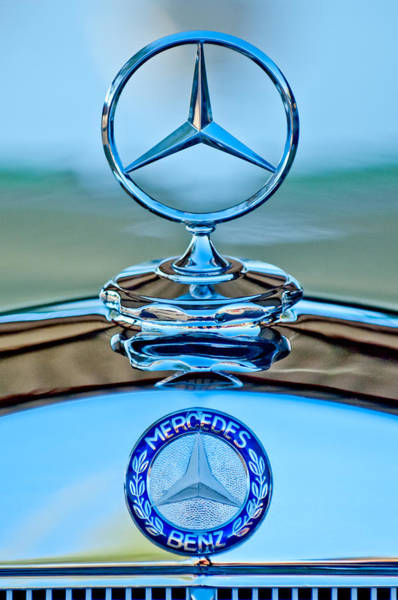 Photograph - Mercedes Benz Hood Ornament by Jill Reger