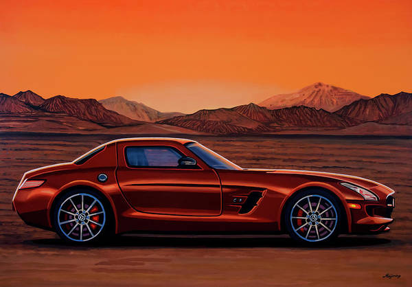 Wall Art - Painting - Mercedes Benz Sls Amg Gt Final Edition 2014 Painting by Paul Meijering